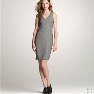 [J. Crew] Exchange Dress Glen Plaid Super 120s